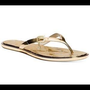 Michael Kors Emory thong flip flops size 8